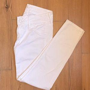 Hudson white Collin Flap Skinny Jeans